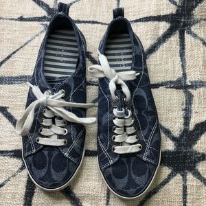 7B COACH SUZZY Blue Jean sneakers